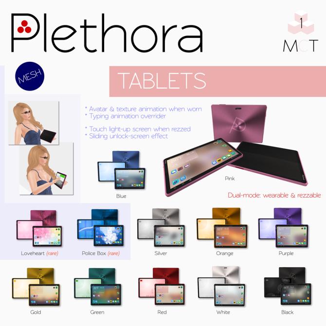 Plethora - Tablets