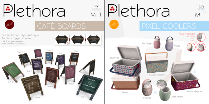 Plethora - Cafe Boards and Pixel Coolers